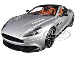 2017 Aston Martin Vanquish S Lightning Silver Carbon Top 1/18 Model Car Autoart 70272