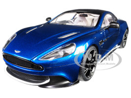 2017 Aston Martin Vanquish S Ming Blue Carbon Top 1/18 Model Car Autoart 70274