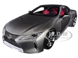 Lexus LC500 Sonic Titanium Silver Dark Rose Interior Carbon Top 1/18 Model Car Autoart 78871