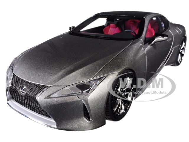 Lexus LC500 Sonic Titanium Silver Dark Rose Interior Carbon Top 1/18 Model Car Autoart 78871