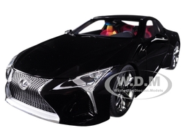 Lexus LC500 Black Dark Rose Interior Carbon Top 1/18 Model Car Autoart 78874