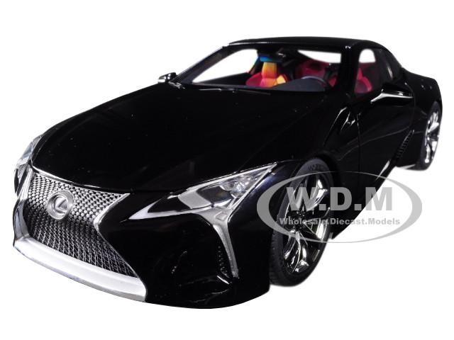 Lexus LC500 Black Dark Rose Interior Carbon Top 1/18 Model Car Autoart 78874