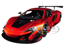 McLaren 650S GT3 Volcano Orange Black Accents 1/18 Model Car Autoart 81642