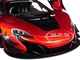 McLaren 650S GT3 Volcano Orange Black Accents 1/18 Model Car Autoart 81642