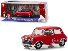 1967 Austin Mini Cooper S 1275 MkI Red The Italian Job 1969 Movie 1/43 Diecast Model Car Greenlight 86550