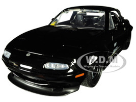 1990 Mazda Miata Endless Glossy Black JDM Tuners 1/24 Diecast Model Car Jada 30936
