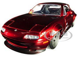 1990 Mazda Miata Endless Candy Red JDM Tuners 1/24 Diecast Model Car Jada 30938