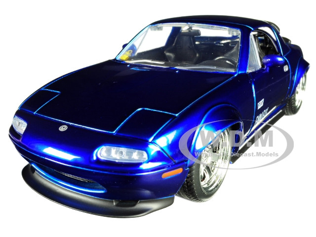 Mazda Miata Jdm >> 1990 Mazda Miata Endless Candy Blue Jdm Tuners 1 24 Diecast Model Car By Jada
