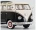 1959 1963 Volkswagen T1 Samba Bus Black White Limited Edition 1000 pieces Worldwide 1/18 Diecast Model Car Schuco 450028700