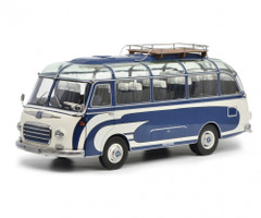 Setra S6 Bus Roof Rack Blue White Limited Edition 750 pieces Worldwide 1/18 Diecast Model Schuco 450034700