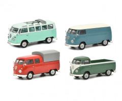 Volkswagen T1b Set 4 pieces 1/43 Diecast Models Schuco 450368900
