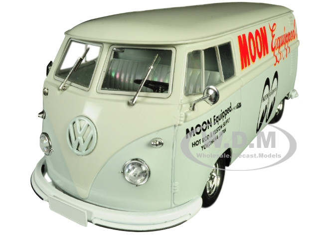 1960 Volkswagen Delivery Van Moon Equipped Light Blue White Top Limited Edition 5880 pieces Worldwide 1/24 Diecast Model M2 Machines 40300-MOON02