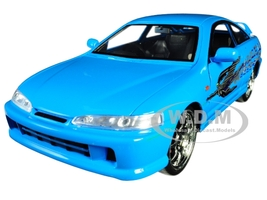 Mia's Acura Integra RHD Right Hand Drive Blue Fast Furious Movie 1/24 Diecast Model Car Jada 30739