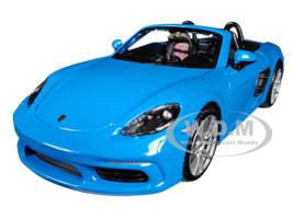 Porsche 718 Boxster Blue 1/24 Diecast Model Car Bburago 21087