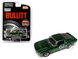 1968 Ford Mustang GT Chrome Green Edition Bullitt 1968 Movie 50 Years Anniversary Limited Edition 4600 pieces Worldwide 1/64 Diecast Model Car Greenlight 51226