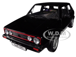 Volkswagen Golf 1 GTI Black 1/18 Diecast Model Car Welly 18039