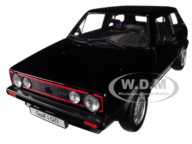 Volkswagen Golf 1 GTI Black 1/18 Diecast Model Car Welly 18039
