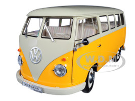 1963 Volkswagen T1 Microbus Yellow Cream 1/18 Diecast Model Welly 18054