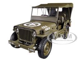 1941 Jeep Willys MB Soft Top Green WWII US Army 1/18 Diecast Model Car Welly 18055