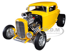 1932 Ford Blown 3 Window Deuces Wild Yellow Limited Edition 960 pieces Worldwide 1/18 Diecast Model Car Acme A1805015