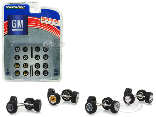 Wheel Tire Multipack General Motors Set 24 pieces 1/64 Greenlight 13167
