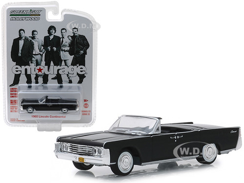 1965 Lincoln Continental Convertible Black Entourage 2004 2011 TV Series Hollywood Series 22 1/64 Diecast Model Car Greenlight 44820 D
