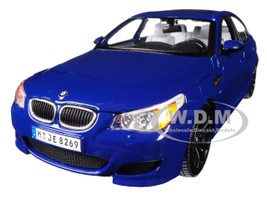 BMW M5 Blue Black Wheels 1/18 Diecast Model Car Maisto 31144