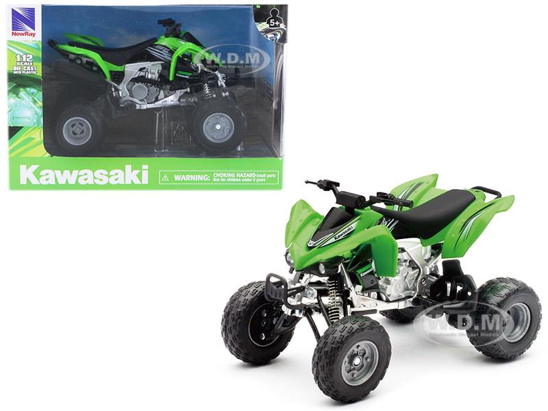 Kawasaki KFX 450R ATV Green 1/12 Motorcycle Model New Ray 57503 S
