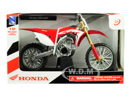 Honda CRF450R Red 1/12 Diecast Motorcycle Model New Ray 57873