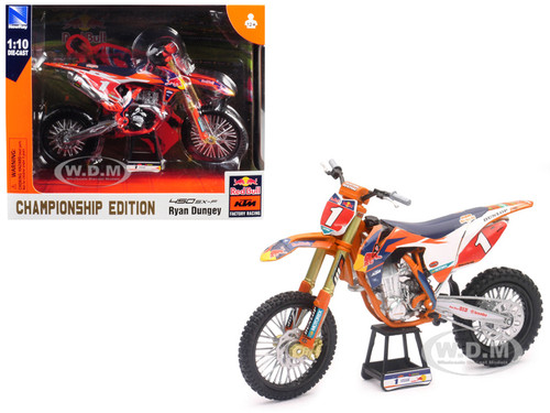 KTM 450 SX-F #1 Ryan Dungey Red Bull Factory Racing Championship Edition 1/10 Diecast Motorcycle Model New Ray 57953