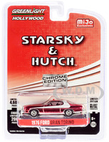 1976 Ford Gran Torino Chrome Red Edition Starsky & Hutch 1975 1979 TV Series Limited Edition 4600 pieces Worldwide 1/64 Diecast Model Car Greenlight 51224