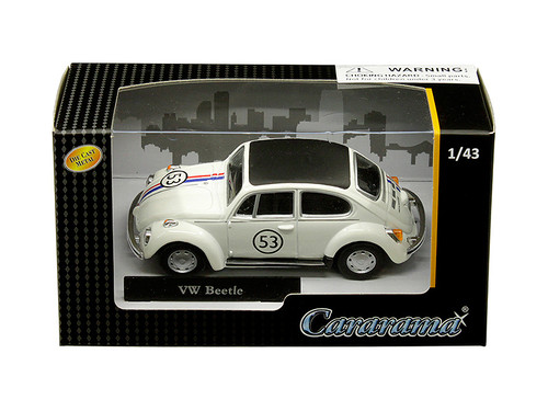 Volkswagen Beetle #53 White 1/43 Diecast Model Car Cararama 41184
