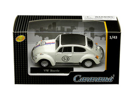 Volkswagen Beetle #53 White 1/43 Diecast Model Car Cararama 41184