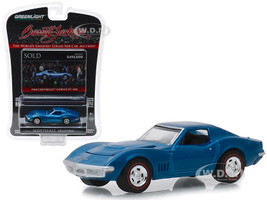 1968 Chevrolet Corvette L88 Lot #1418 Blue Barrett Jackson Scottsdale Edition Series 3 1/64 Diecast Model Car Greenlight 37160 B