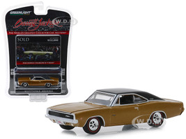 1968 Dodge Charger R/T HEMI Lot #1310.1 Brown Black Top Barrett Jackson Scottsdale Edition Series 3 1/64 Diecast Model Car Greenlight 37160 C