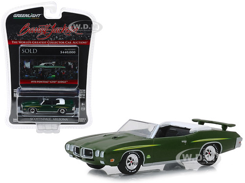 1970 Pontiac GTO Judge Convertible Lot #1412 Green Barrett Jackson Scottsdale Edition Series 3 1/64 Diecast Model Car Greenlight 37160 F