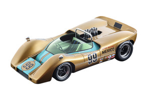 McLaren M6B #99 Moises Solana DNF Did Not Finish USRRC United States Road Racing Championship 1968 Laguna Seca Mythos Series Limited Edition 80 pieces Worldwide 1/18 Model Car Tecnomodel TM18-56 D