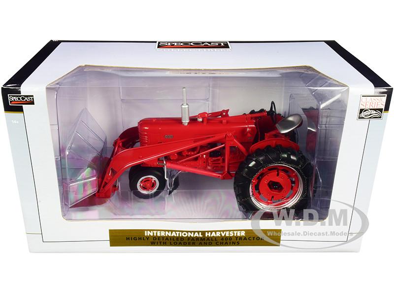 International Harvester Farmall 400 Tractor Loader Chains Classic Series 1/16 Diecast Model Speccast ZJD1819