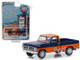 1971 Ford F-100 Gulf Oil Pickup Truck Orange Dark Blue Running on Empty Series 7 1/64 Diecast Model Car Greenlight 41070 D
