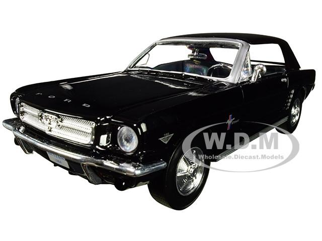1964 1/2 Ford Mustang Black 1/24 Diecast Model Car Motormax 73273