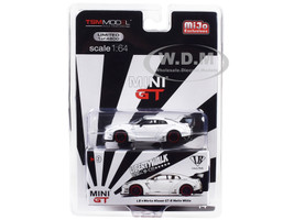 Nissan GT-R R35 Type 1 LB Works LibertyWalk Matt White Rear Wing Limited Edition 4800 pieces Worldwide 1/64 Diecast Model Car True Scale Miniatures MGT00009