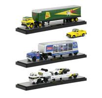 Auto Haulers Release 32 3 Trucks Set 1/64 Diecast Models M2 Machines 36000-32