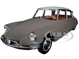 1959 Citroen DS 19 Light Brown Carrare White Top 1/18 Diecast Model Car Norev 181481