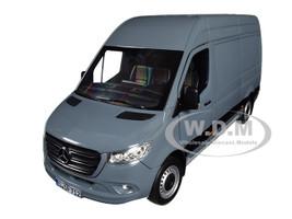 2018 Mercedes Benz Sprinter Cargo Van Blueish Gray 1/18 Diecast Model Norev 183423