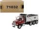 Western Star 4700 SF Dump Truck Metallic Red Silver Body 1/50 Diecast Model Diecast Masters 71032
