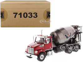 Western Star 4700 SF Concrete Mixer Metallic Red Gray Body 1/50 Diecast Model Diecast Masters 71033