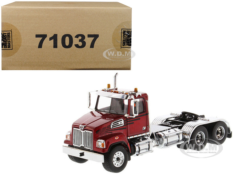 Western Star 4700 SF Tandem Day Cab Tractor Metallic Red 1/50 Diecast Model Diecast Masters 71037