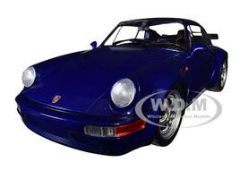 1990 Porsche 911 Turbo Metallic Blue Limited Edition 500 pieces Worldwide 1/18 Diecast Model Car Minichamps 155069101