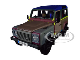 Land Rover Defender 90 Paul Smith Edition 2015 Multicolor 1/18 Diecast Model Car Almost Real 810214