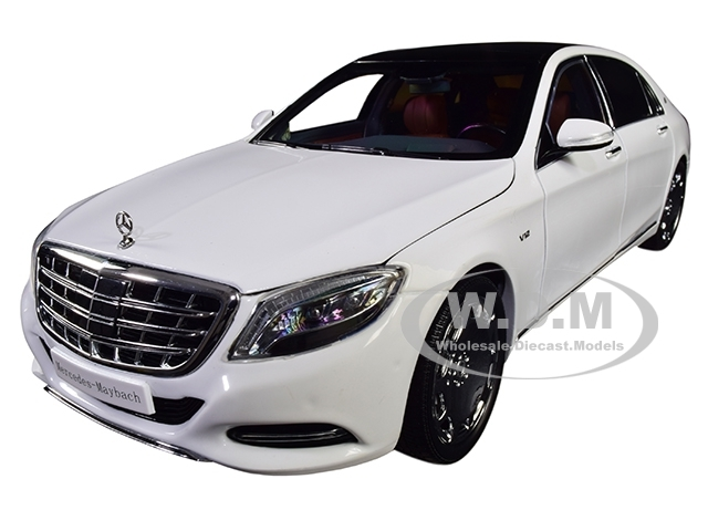 2016 Mercedes Benz Maybach S Class Diamond White With Black Top 1 18 Diecast Model Car By Almost Real